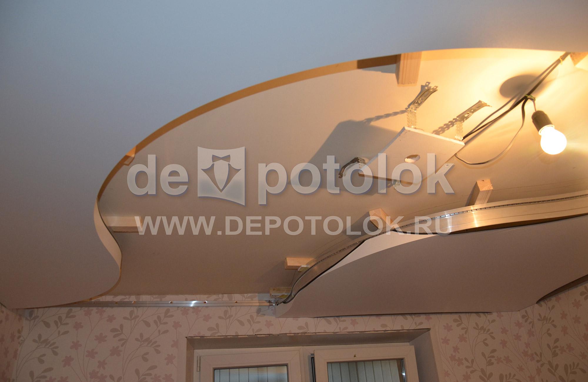 натяжной потолок особенности и процесс монтажа схема